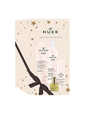 Nuxe body luksus gaveæske xmas 18,shower gel, 24 timers fugtgivende