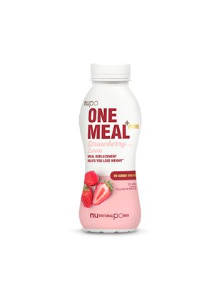 One meal + prime shake  jordbær