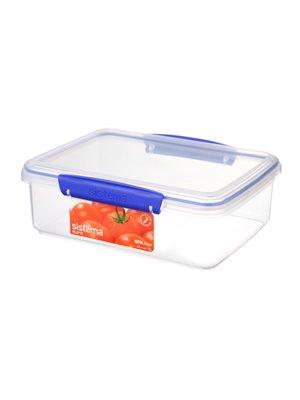 Opbevaringsboks blå 2 L rectangular Sistema