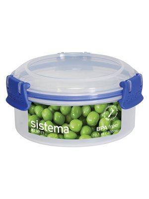 Opbevaringsboks blå 300 ml  round Sistema