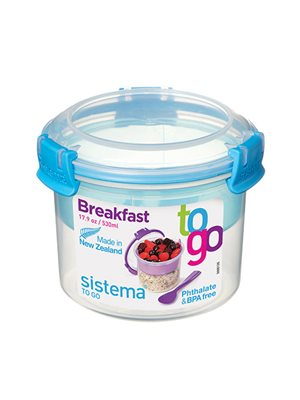Opbevaringsboks blå 530 ml Breakfast to go Sistema