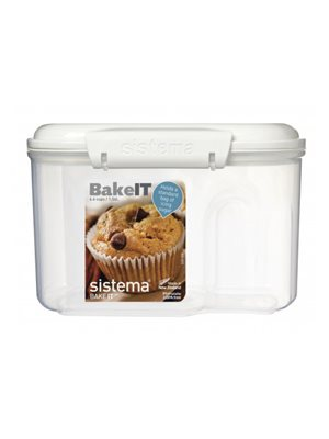 Opbevaringsboks hvid 1,56 L bakery Sistema