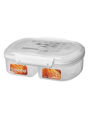 Opbevaringsboks hvid 630 ml split bakery Sistema