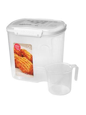 Opbevaringsboks m.kop hvid2,4L bakery Sistema