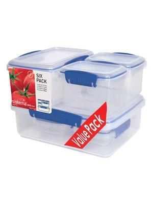 Opbevaringsboks Six Pack blå Sistema