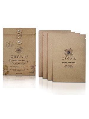 Organic Sheet Mask Anti-aging  Moisturizing 4 stk Orgaid