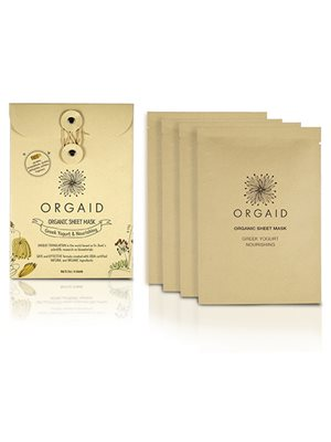 Organic Sheet Mask Greek 4 stk Yogurt Nourishing Orgaid