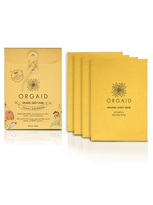 Organic Sheet Mask Vitamin C Revitalizing 4 stk Orgaid
