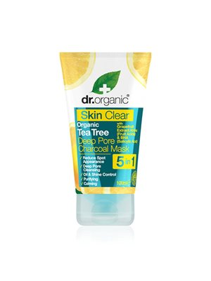 Organic tea tree deep pore charcoal mask Dr. Organic Skin Clear