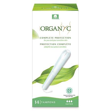Organyc tampon super med indføringshylster 14 stk