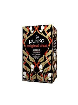 Original Chai te Ø Pukka sort te, kanel & kardemomme