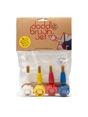 Penselsæt doddlebrush 4 stk