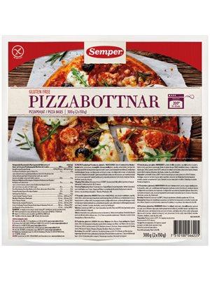 Pizzabunde glutenfri Semper indh.: 2 stk.