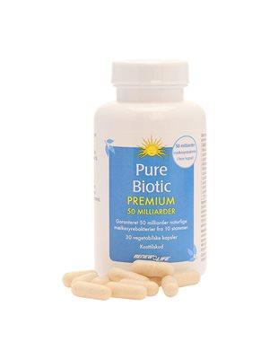 Pure Biotic Premium 50 mia. mælkesyrebakterier Renew Life