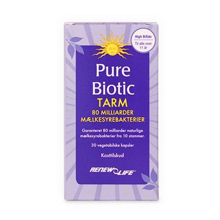 Pure Biotic Tarm 80 mia. mælkesyrebakterier - Renew Life
