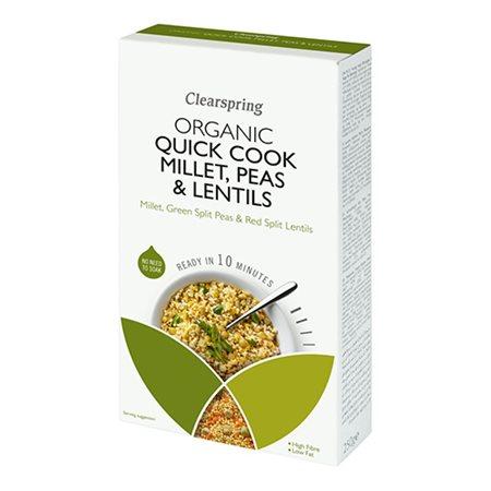 Quick Cook Ø Hirse, grønne   ærter, røde linser