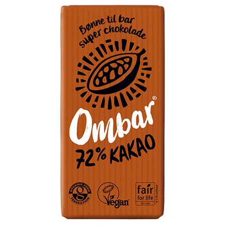 Raw chokolade 72 % Ombar Ø