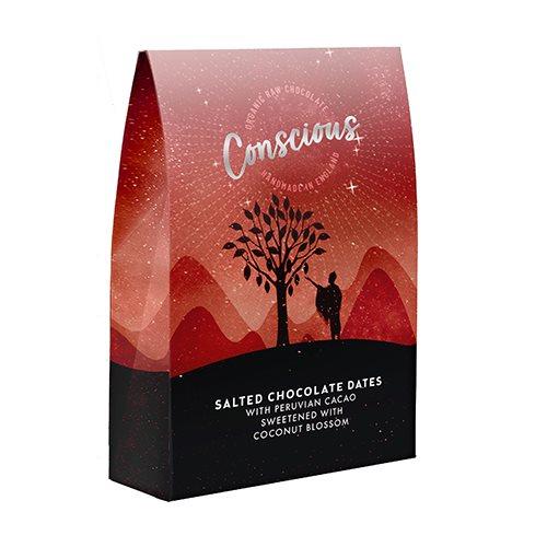 Conscious Raw Chokolade Saltede Dadler Ø