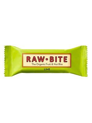Rawbite Lime Ø glutenfri frugt- og nøddebar