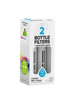 Refiller filterflaske Antracit grå 2 stk refiller + mundstykke