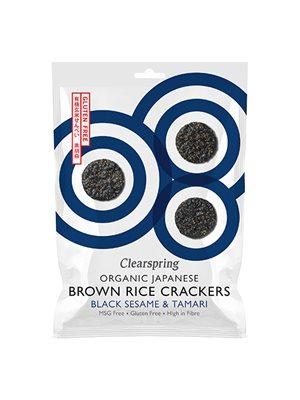 Rice Cracker black sesame Ø