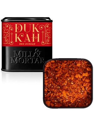 Rød Dukkah mandler Ø m.  sød, røget paprika Mill & Mortar