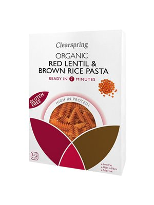 Røde linser & brune ris Ø fussili