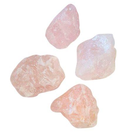 Rosakvarts krystal (rå)