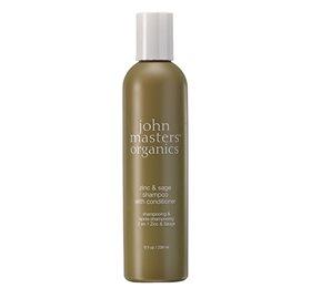 Shampoo m.balsam Zinc & Sage  John Masters Til skæl,sart,tør hovedbund