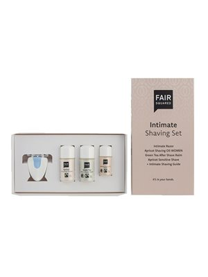 Shaving set intimate shaving oil, aftershave balm,