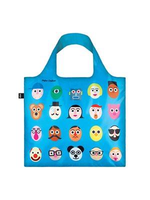 Shopper Loqi Blue Faces Øko-Tex certificeret