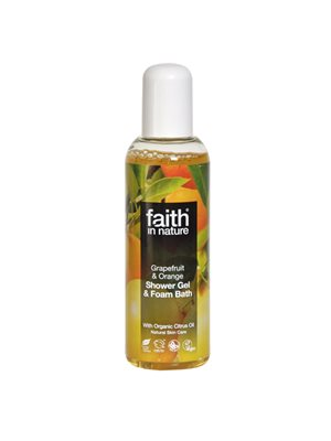 Shower gel grape & orange Faith in nature