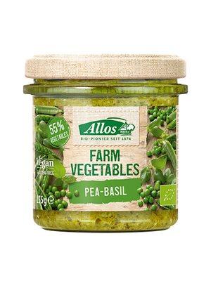 Smørepålæg Ærter & Basilikum Ø Farm Vegetables Allos