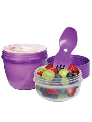 Snack To Go  515 ml pink, lilla, blå, grøn