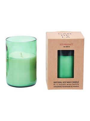 Soya Duftlys Munio Candela 30T Green Leaf/Peppermint, wine bottle