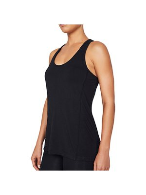 Sports tank top Dame sort str. M