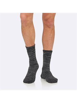 Strømper Herre gråmeleret str. 45-50 Woork Boot