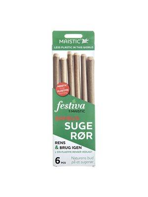 Sugerør Naturlige Bambus 6 stk