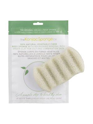Svamp grøn krop til fedtet hud den originale Konjac Sponge