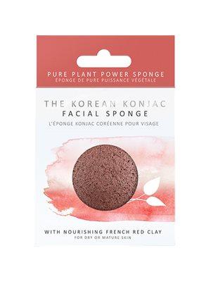 Svamp krop tør hud rød Premium Den originale Konjac Sponge