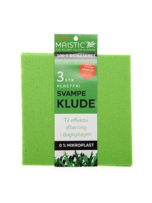 Svampeklude 3 stk. Fri for microfiberplast