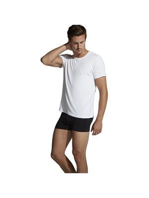 T-Shirt Herre hvid str. S Crew-neck