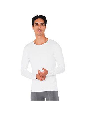 T-Shirt Herre langærmet hvid str. L str. L