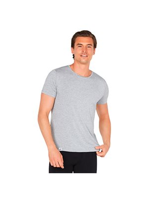 T-shirt Herre lysegrå crew-neck str. M