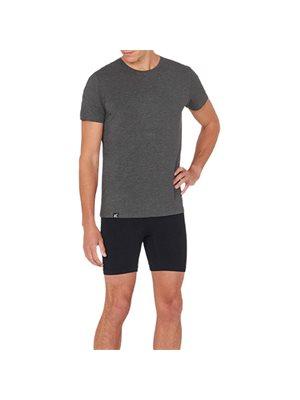 T-Shirt Herre mørk grå str. S rund hals