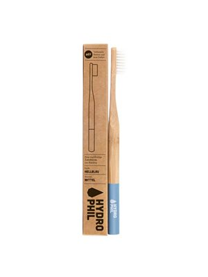 Tandbørste bambus blå