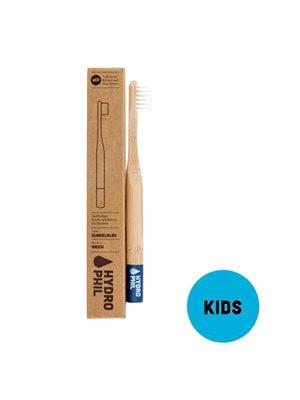 Tandbørste bambus børn blå
