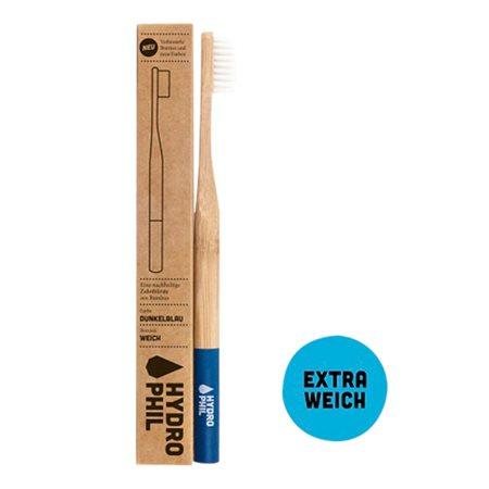 Tandbørste soft bambus blå