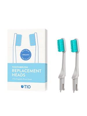 Tandbørstehoveder medium grå 2 stk TIO