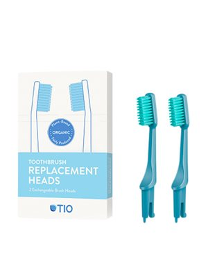 Tandbørstehoveder soft blå 2 stk TIO